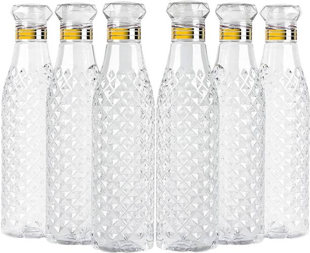 AneriDEALS Crystal Clear Water Bottle for Fridge, for Home Office Gym School Boy, Unbreakable 1000 ml Bottle