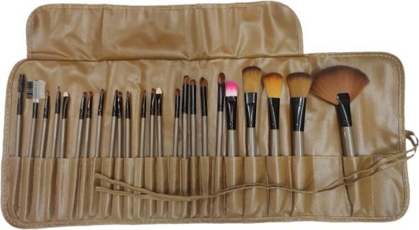 BELLA HARARO Makeup Brushes 24 Piece Brown Makeup Brush Set Premium Synthetic Foundation Blending Face Powder Lipstick Eye shadow Make Up Brushes Set