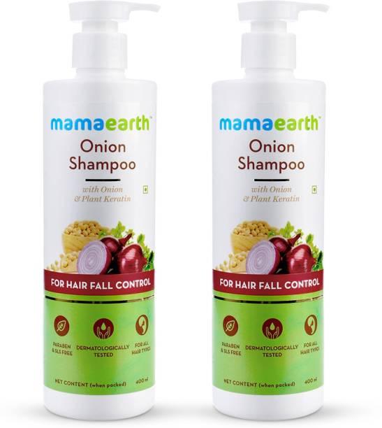 MamaEarth Onion Hair Fall Shampoo Family Pack