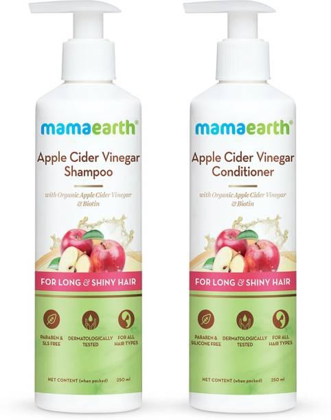 MamaEarth Apple Cider Vinegar Healthy Hair Combo - Shampoo 250ml + Conditioner 250ml