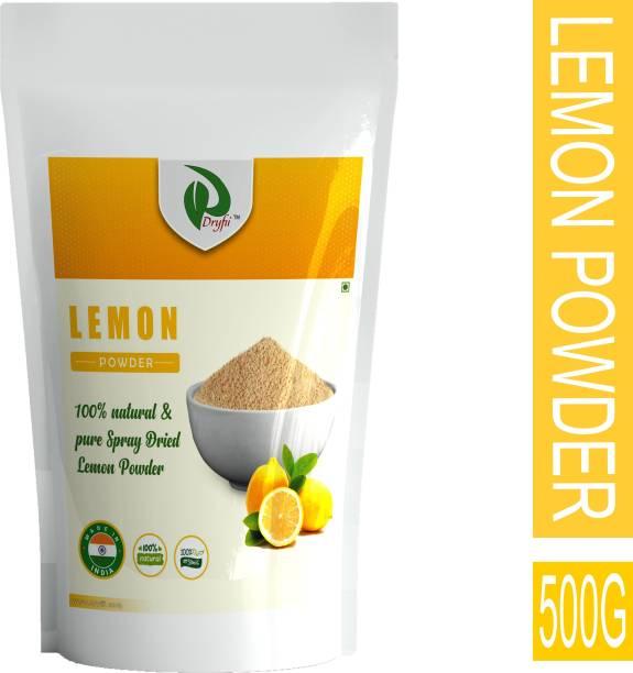 Dryfii Natural Spray Dried Organic Lemon Powder (Nimbu) No Preservatives Vegan Gluten Free Ready To Use (500G)