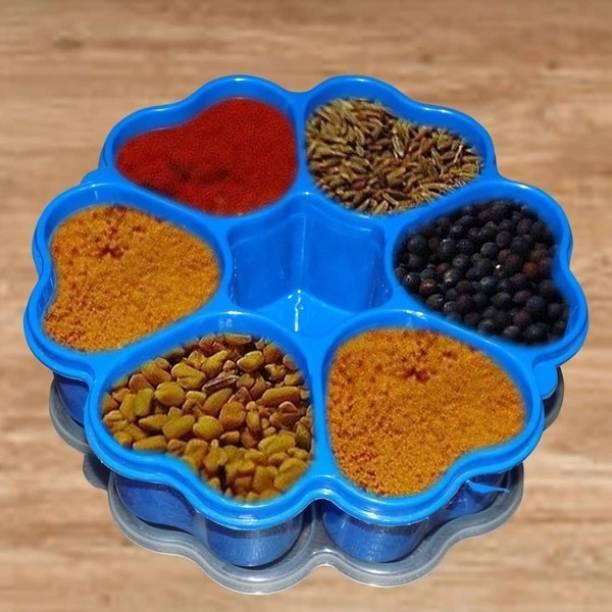 NIREN ENTERPRISE Masala Box/Spice container/ Heart Shape Spice Rack Plastic Grocery Container Salt & Pepper Set