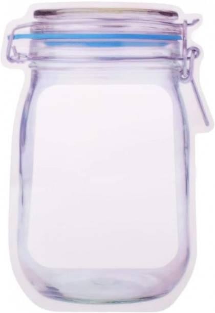 GK sales Mason Jar Zipper (1000ml)  - 1000 Plastic Utility Container