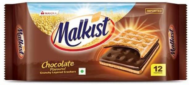 Mayora malkist chocolate flavoured crunchy crackers 138g*4 Cream Cracker Biscuit
