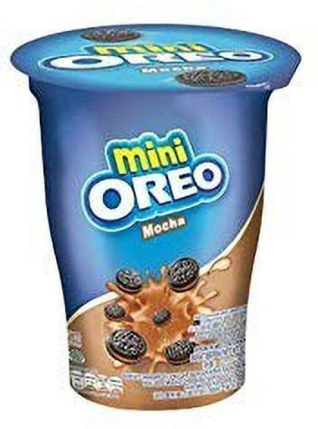 OREO Mini Cup Mocha Flavoured Cream Biscuits , 61gm (Imported) (Pack of 1) Cookies