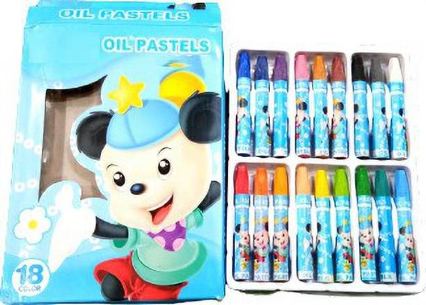 Art crafts Oil Pastels Color Different Shades (Pack of 18)