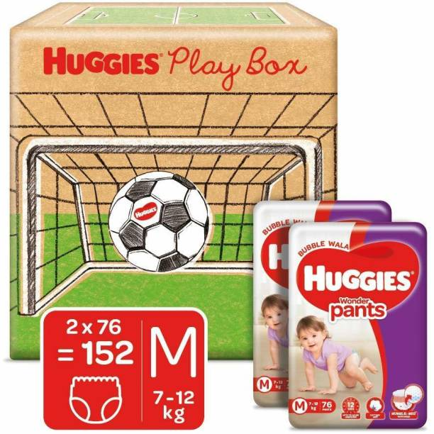 Huggies Play Box with Wonder Pants Monthly Pack with Bubble Bed Technology - M