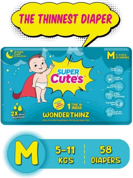 Super Cute's | WonderThinz | Pant Style Ultrathin Premium Diaper For 2X Absorption & Comfort - M
