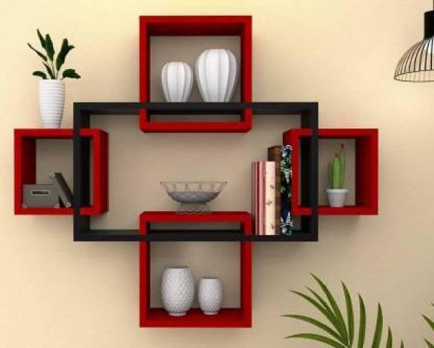 ekart portal ekart portal wooden decorative wall shelf Engineered Wood Display Unit