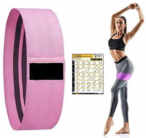 LUHI Resistance Band Non-Slip Fabric for Legs,Hips,Stretch Exercise Workout Loop Bands Resistance Band