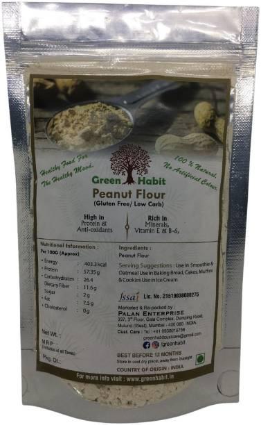 greenhabit Peanut Flour All Natural & Gluten Free Ingredients Indian Origin (500 GM)