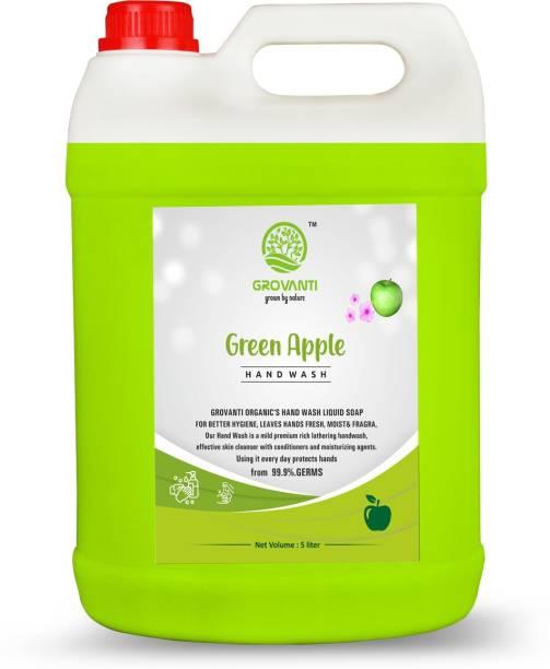 GROVANTI ORGANIC GREEN APPLE HANDWASH LIQUID 5LITER Hand Wash Can