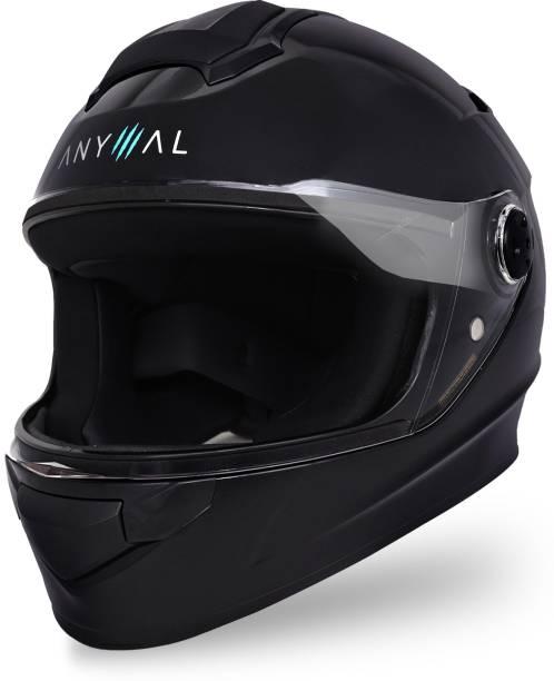 GoMechanic Anymal Series- Rhino Full Face with Clear Visor Motorsports Helmet