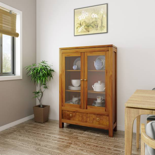 Flipkart Perfect Homes Solid Wood Furniture Solid Wood Crockery Cabinet
