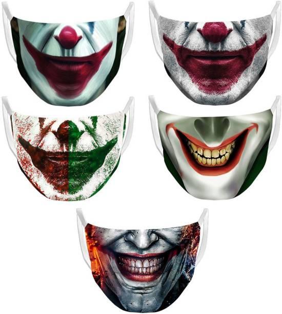 sam editz Joker Mask   Printed Mask   Reusable Mask   Washable Mask   Anti-Pollution Mask   Combo Masks Cloth Mask
