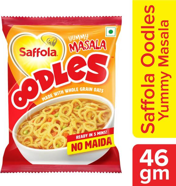 Saffola Oodles Yummy Masala Instant Noodles Vegetarian