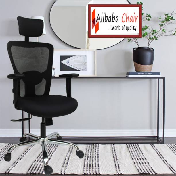 Alibaba chair ... world of quality office revolving chair   study chair   ergonomic chair   mesh chair Nylon, Mesh, Fabric Office Adjustable Arm Chair