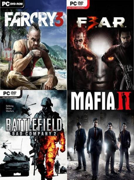 Farcry 3, Fear 3, Battlefield: Bad Company 2, Mafia 2 Top Four Game Combo (Offline Only) (Regular)