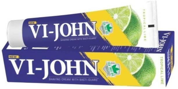 VI-JOHN Shaving Cream Tropical Lime 125GM PACK of 12