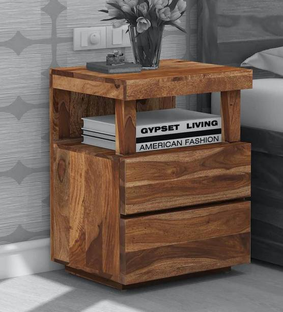 CHITRA FURNITURE Solid Wood Bedside Table
