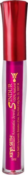 Keya Seth Aromatherapy Aromatic 100% Natural Liquid Sindoor Magenta with Sponge-Tip- Applicator- Long Lasting Chemical Free & Waterproof with Floral Pigment-5ml Sindoor