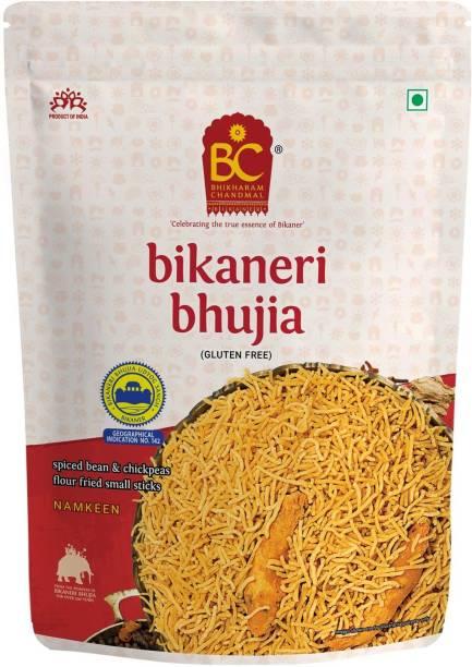 BHIKHARAM CHANDMAL Bikaneri Bhujia Namkeen - Barik Sev Spicy Rajasthani Snacks Savories
