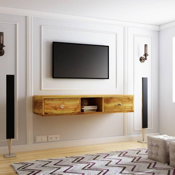 Flipkart Perfect Homes Solid Wood TV Entertainment Unit