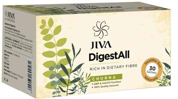 Jiva DigestAll Churna - 30 Sachets | Quick Relief from Gas, Acidity and Indigestion | 100% Quality Assured | Enriched with 13 Natural Herbs | Pack of 3 (30 Sachets)