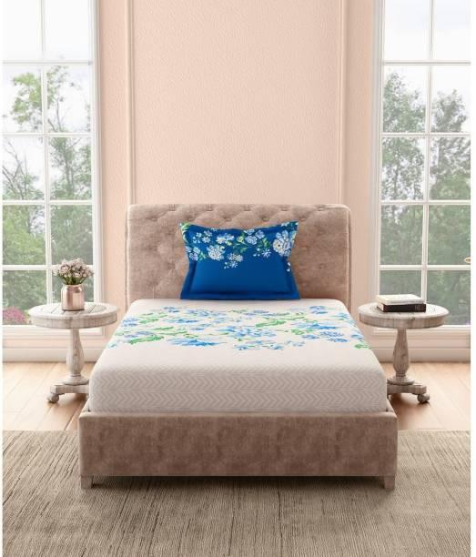 PORTICO NEW YORK 144 TC Cotton Single Floral Bedsheet