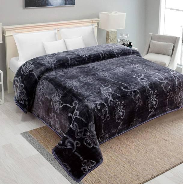 Fancy Walas Solid Double Mink Blanket