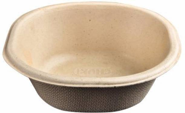 CLAM SHELL We bring to you the range of eco friendly 100% bio degradable bagasse disposables. Sugarcane Bagasse Disposable Serving Bowl