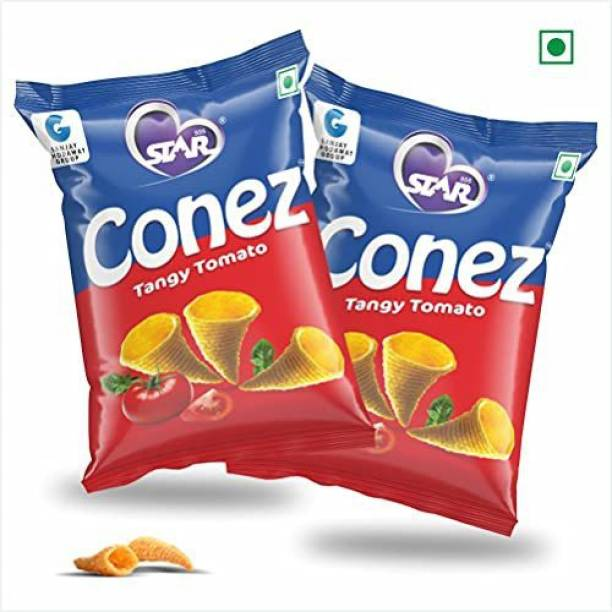 STAR 555 CONEZ Tangy Tomato 100GM Each Pack of 2 Chips