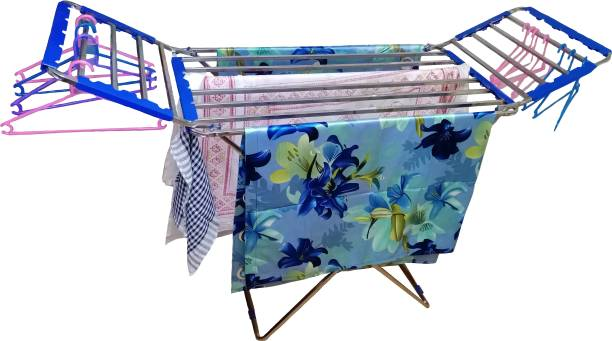 TNC Steel Floor Cloth Dryer Stand T-CDS-SS SQUARE STAND-PALANG RACK-00101