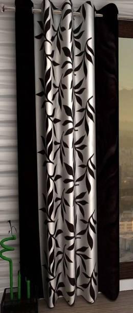 Panipat Textile Hub 210 cm (7 ft) Polyester Door Curtain Single Curtain
