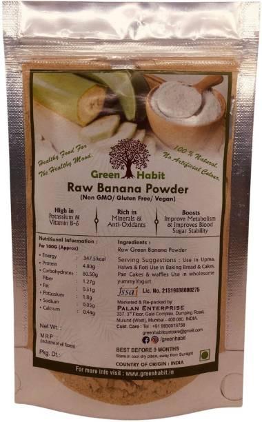 greenhabit Raw Banana Flour - Gluten Free - Fresh Made in the INDIA 500gm