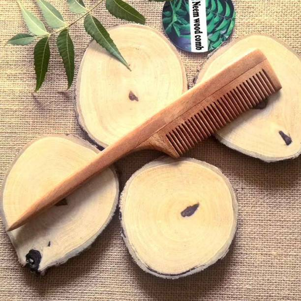 Tora Creations Neem Wood Tail Comb for Thin Hairs (7039)