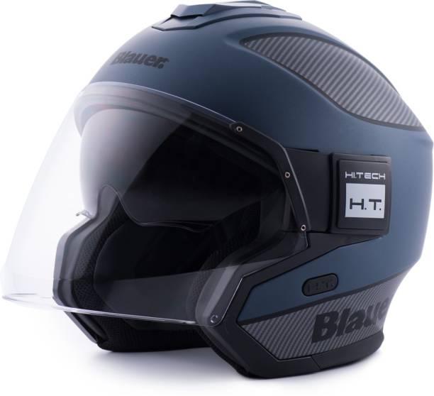 Steelbird Blauer Solo ISI/ECE Certified Open Face Helmet Motorbike Helmet