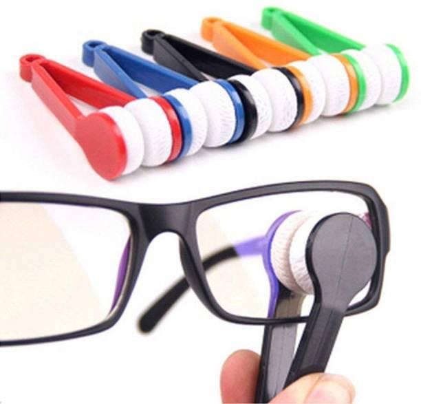BHAGIRATHI MALL Mini Glasses Sunglasses Eyeglass Microfiber Spectacles Cleaner spec cleaner Brush Cleaning Tool Lens Cleaner ( 3 inch, Pack of 5)  Lens Cleaner