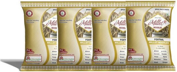 e-Millet Foxtail Millet Noodles with Masala pack of 190g x 4 nos Hakka Noodles Vegetarian