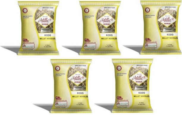 e-Millet Kodo Millet Noodles with Masala pack of 190g x 5 nos Hakka Noodles Vegetarian
