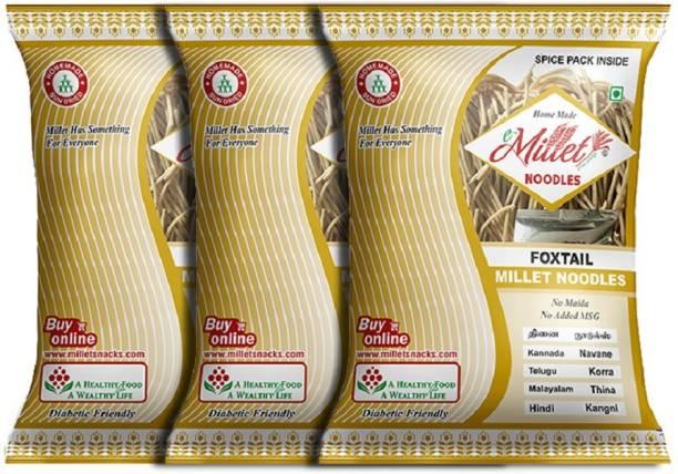 e-Millet Foxtail Millet Noodles with Masala pack of 190g x 3 nos Hakka Noodles Vegetarian