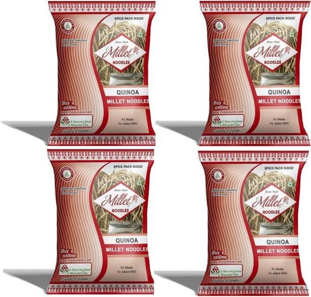 e-Millet Quinoa Millet Noodels with Masala pack of 190g x 4 nos Instant Noodles Vegetarian
