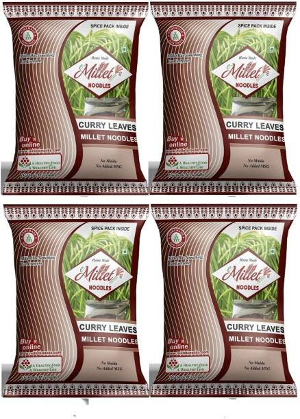 e-Millet Curry Leaves Noodles with Masala pack of 190g x 4 nos Instant Noodles Vegetarian