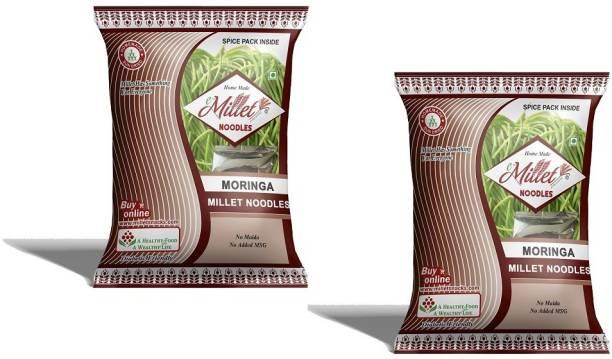 e-Millet Moringa Noodles with Masala pack of 190g x 2 nos Hakka Noodles Vegetarian