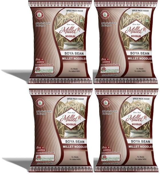 e-Millet Soya Noodles with Masala pack of 190g x 4 nos Hakka Noodles Vegetarian