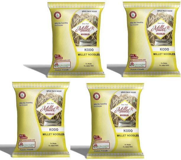 e-Millet Kodo Millet Noodles with Masala pack of 190g x 4 nos Hakka Noodles Vegetarian