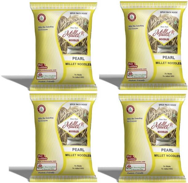 e-Millet Pearl Millet Noodles with Masala pack of 190g x 4 nos Hakka Noodles Vegetarian
