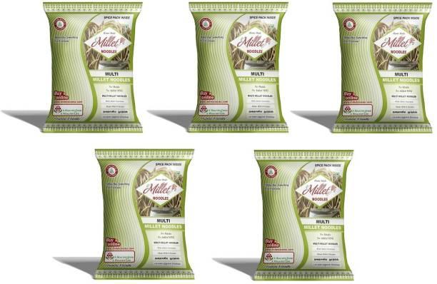 e-Millet MultiMillet Noodles with Masala pack of 190g x 5 nos Hakka Noodles Vegetarian