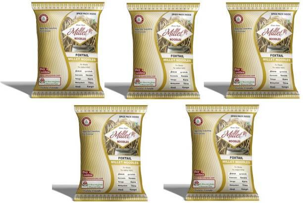 e-Millet Foxtail Millet Noodles with Masala pack of 190g x 5 nos Hakka Noodles Vegetarian