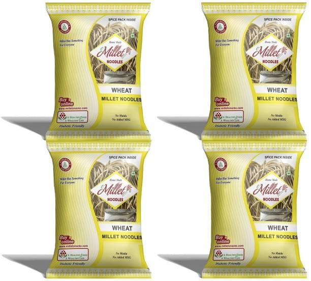 e-Millet Wheat Noodle with Masala pack of 190g x 4 nos Hakka Noodles Vegetarian